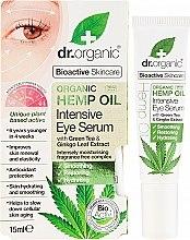 Парфюми, Парфюмерия, козметика Интензивен серум за околоочен контур с конопено масло - Dr. Organic Bioactive Skincare Hemp Oil Intensive Eye Serum