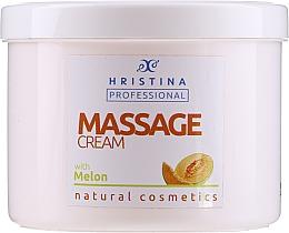 Парфюмерия и Козметика Масажен крем с екстракт от пъпеш - Hristina Professional Massage Cream With Melon