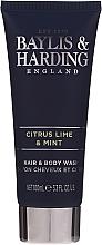 Комплект за мъже - Baylis & Harding Men's Citrus Lime & Mint Bag(hair/body/wash/100ml+face/wash/100ml+a/sh/balm/100ml+acc) — снимка N5