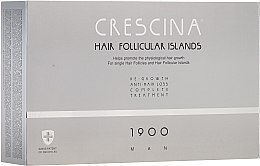 Парфюмерия и Козметика Комплексна терапия против косопад за мъже 1900 - Crescina Hair Follicular Island Re-Growth + Anti-Hair Loss 1900 Man