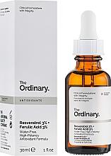 Парфюмерия и Козметика Серум за лице с ресвератрол 3% и ферулова киселина 3% - The Ordinary Resveratrol 3% + Ferulic Acid 3%
