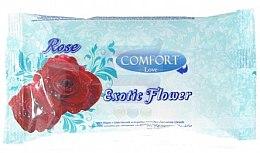 Парфюми, Парфюмерия, козметика Мокри кърпички - Comfort Rose Exotic Flower