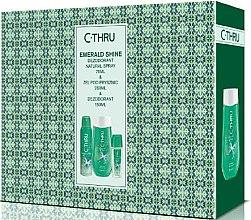 Парфюмерия и Козметика C-Thru Emerald Shine - Комплект (деозодорант/150ml + спрей за тяло/75ml + душ гел/250ml)