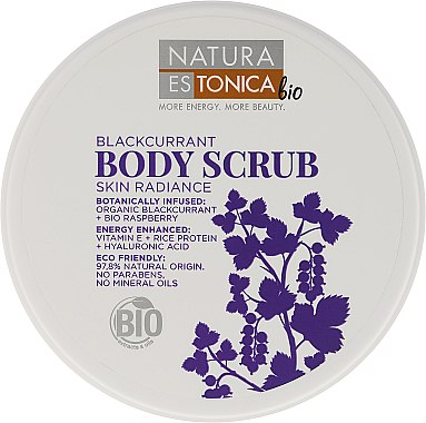 Скраб за тяло с касис - Natura Estonica Black Currant Body Scrub