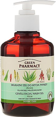 """Нежен измиващ гел за лице """"Алое"""" - Green Pharmacy"""