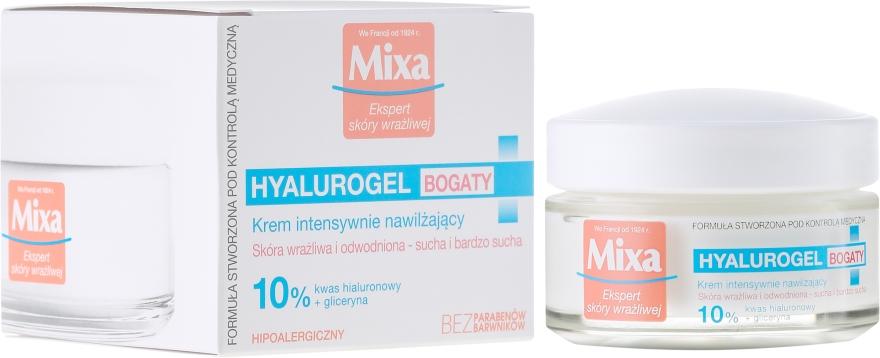 Овлажняващ крем за лице - Mixa Hyalurogel Moisturizing Face Cream
