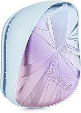 Парфюмерия и Козметика Четка за коса - Tangle Teezer Compact Styler Smashed Holo Blue