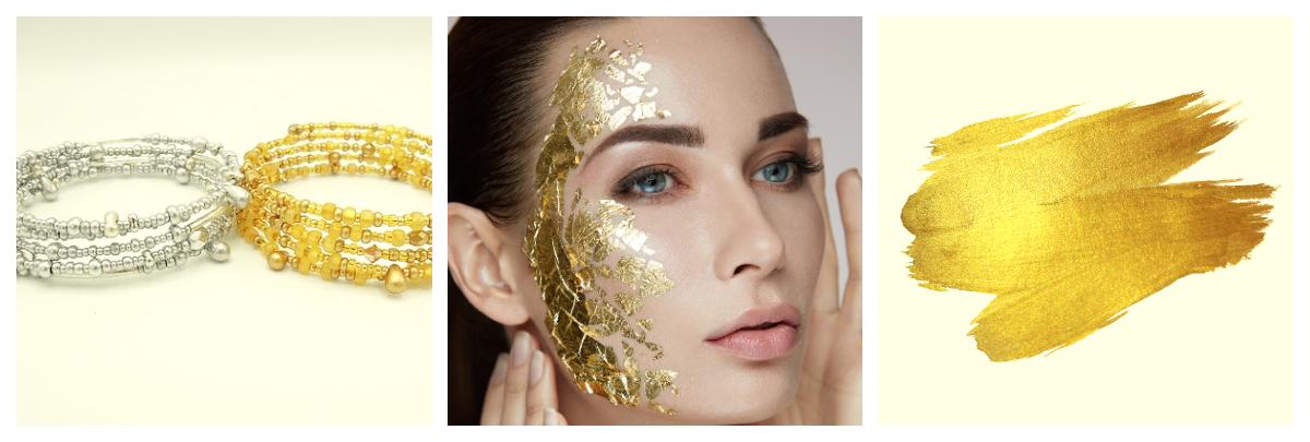 Златото и среброто в козметиката