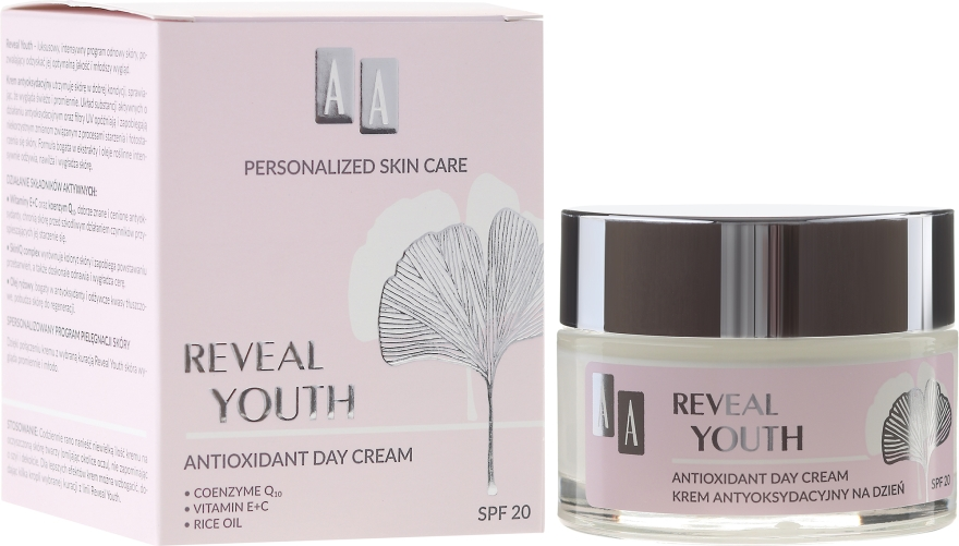 Антиоксидантен крем за лице - AA Reveal Youth Antioxidant Face Cream SPF20