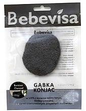 """Парфюмерия и Козметика Гъба за измиване, овална """"Бамбуков въглен"""" - Bebevisa Konjac Sponge"""