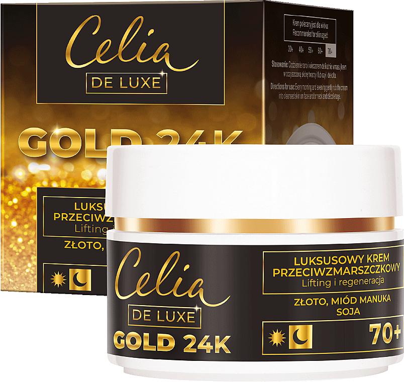 Регенериращ лифтинг крем за лице - Celia De Luxe Gold 24K 70+