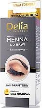 Парфюмерия и Козметика Крем-боя за вежди, графит - Delia Brow Dye Graphite Henna Cream