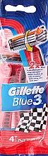 Парфюми, Парфюмерия, козметика Самобръсначки, 4бр - Gillette Blue 3 Nitro