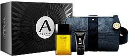 Парфюмерия и Козметика Azzaro Pour Homme - Комплект (тоал. вода/50ml + душ гел/50ml + козм. чанта)