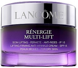 Парфюми, Парфюмерия, козметика Дневен лифтинг крем за суха кожа - Lancome Renergie Multi-Lift Redefining Lifting Cream Dry Skin SPF 15 (тестер)