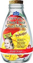 """Парфюмерия и Козметика Почистваща маска за лице с глина от мъртво море """"Манго"""" - Purederm Purifying Dead Sea Mud Mask With Mango"""
