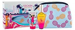 Парфюми, Парфюмерия, козметика Escada Miami Blossom - Комплект (тоал. вода/50ml + лосион за тяло/50ml + козм. чанта)
