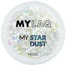 Парфюмерия и Козметика Прашец за маникюр - MylaQ My Star Dust