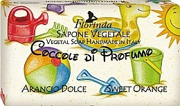 """Парфюми, Парфюмерия, козметика Детски натурален сапун """"Сладък портокал"""" - Florinda Sapone Vegetale Orange Cake"""