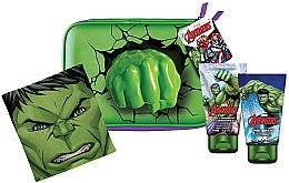 Парфюми, Парфюмерия, козметика Комплект - Marvel Avengers Hulk (душ гел/75ml+шампоан/75ml+козм. чанта+кърпа)