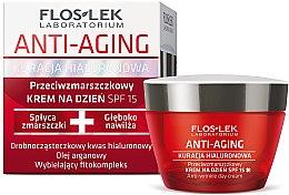 Парфюми, Парфюмерия, козметика Дневен крем за лице - Floslek Anti-Aging Anti-Wrinkle Day Cream SPF15