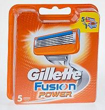 Парфюмерия и Козметика Сменяеми ножчета за бръснене, 5 бр. - Gillette Fusion Power