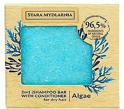 Парфюмерия и Козметика Твърд шампоан-балсам за коса с водорасли - Stara Mydlarnia Algae 2in1 Shampoo Bar