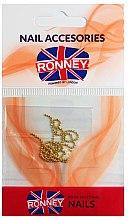 Парфюмерия и Козметика Синджирче за нокти, 00375, златисто - Ronney Professional