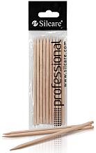 Парфюмерия и Козметика Дървени пръчици за избутване на кожички, 110 мм - Silcare Manicure Sticks