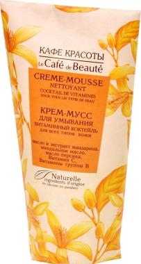 "Измиващ крем-мус за лице ""Витаминен коктейл"" за всеки тип кожа - Le Cafe de Beaute Vitamin Cream-Mousse"