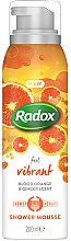 Парфюми, Парфюмерия, козметика Мус за душ и бръснене - Radox Feel Vibrant Blood Orange & Ginger Scent Shower Mousse