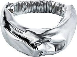"""Парфюмерия и Козметика Лента за глава, от плат, сребърна """"Knit Fashion Twist"""" - MakeUp Hair Accessories"""