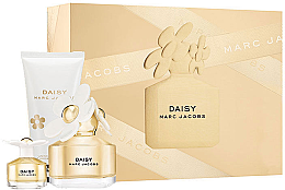 Парфюми, Парфюмерия, козметика Marc Jacobs Daisy - Комплект (тоал. вода/100ml+ лосион за тяло/150ml + мини тоал. вода/4ml)