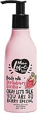 Парфюмерия и Козметика Подхранващо мляко за тяло с ягода - MonoLove Bio Strawberry Sicilia Body Milk