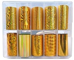 Парфюмерия и Козметика Комплект трансферни фолиа за маникюр - Deni Carte Gold Holo