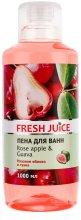Парфюмерия и Козметика Пяна за вана с аромат на розова ябълка и гуава - Fresh Juice Rose Apple and Guava