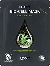 Парфюмерия и Козметика Биоцелулозна маска за лице с екстракт от чаено дърво - SNP Double Synergy Soothing Bio-Cell Mask
