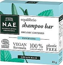Парфюмерия и Козметика Твърд шампоан за мазна коса - N.A.E. Equilibrio Purifying Shampoo Bar