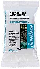 Парфюми, Парфюмерия, козметика Антибактериални мокри кърпички - Sweet Sense Antibacterial Wipes