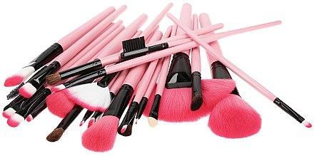 Професионален комплект четки за грим, розов, 24 бр - Tools For Beauty — снимка N2