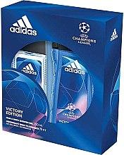 Парфюми, Парфюмерия, козметика Adidas UEFA Champions League Victory Edition - Комплект (део спрей/75ml+душ гел/250ml)