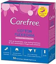Парфюмерия и Козметика Ежедневни дамски превръзки, 56 бр - Carefree Cotton FlexiForm