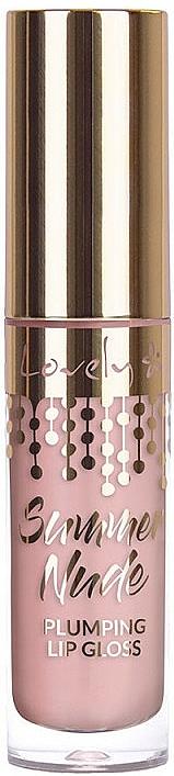 Гланц за устни с увеличаващ ефект - Lovely Summer Nude Plumping Lip Gloss