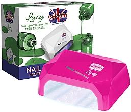 Парфюмерия и Козметика Лампа CCFL+LED за нокти, розова - Ronney Profesional Lucy CCFL + LED 36W (GY-LCL-021) Lamp