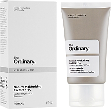 Парфюмерия и Козметика Натурален хидратиращ крем за лице - The Ordinary Natural Moisturizing Factors + HA