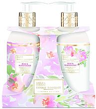 Парфюми, Парфюмерия, козметика Комплект - Baylis & Harding Royal Bouquet Rose & Honeysuckle (лосион за тяло/300ml + сапун/300ml)
