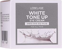 Парфюмерия и Козметика Изсветляващ крем за околоочния контур - Lebelage White Tone Up Eye Cream