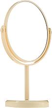 Парфюмерия и Козметика Овално огледало на стойка 85710, жълто - Top Choice Beauty Collection Mirror