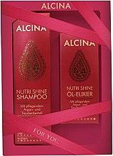Парфюмерия и Козметика Комплект за коса - Alcina Nutri Shine Set (шампоан/250ml + еликсир/50ml)
