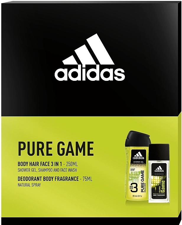 Adidas Pure Game - Комплект (спрей/75ml + душ гел/250ml) — снимка N1